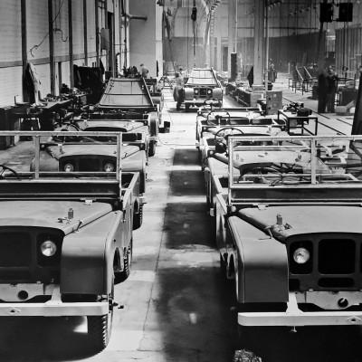 Bezoek aan defabriek van Land Rover in Engeland